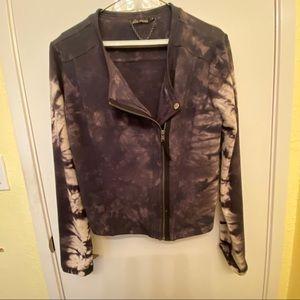 "Ella Moss ""Frankie"" tie dyed moto jacket size M"